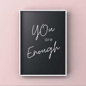 Modern minimalist motivational sayings art print